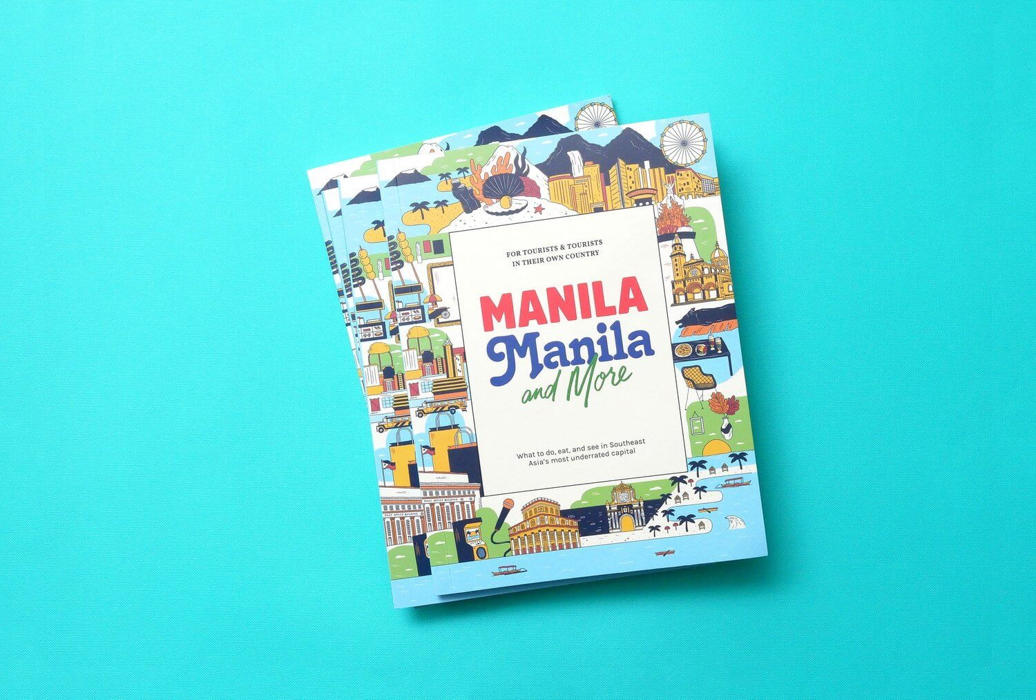 Manila, Manila, and More Guidebook Book Cover Art